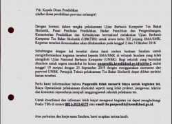 Informasi Pelaksanaan Tes Bakat Skolastik (TBS)