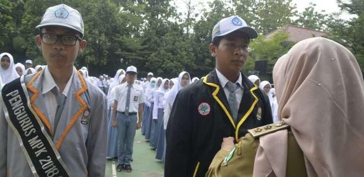Pelantikan Pengurus OSIS dan MPK  SMA Negeri 1 Dramaga Tahun Pelajaran 2018/2019