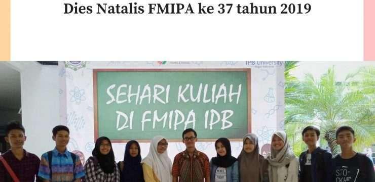 Siswa SMANIDA Mengikuti Kuliah Sehari di FMIPA IPB